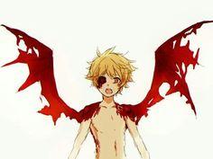 Yukine, Ayakashi, demon, wings, cool; Noragami