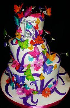 WwwRoxanasCakescom Butterfly Themed Cake