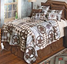 Southwest Bedroom, Southwest Decor, Quilt Bedding, Bedding Sets, Cowboy Accessories, Quilt Sets Queen, Western Bedding, Forest Decor, Leather Pillow