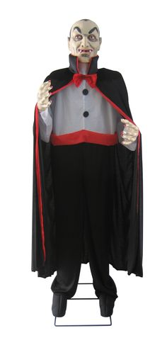Features:  -12 LED lights.  -Motion sensor.  -Lifelike costume.  Decoration Type: -Oversized figurine/Lighted display.  Color: -Black.  Location: -Freestanding.  Light Included: -Yes.  Holiday Theme: