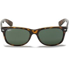 Ray-Ban New Wayfarer Polarized Sunglasses, 55mm ($190) ❤ liked on Polyvore featuring accessories, eyewear, sunglasses, tortoise polar, ray ban sunglasses, polarized wayfarer sunglasses, summer sunglasses, polarized lens sunglasses and tortoise shell wayfarer