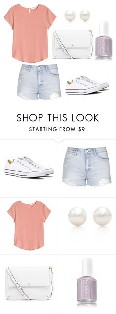 """Simple casual summer"" by jilld727 ❤ liked on Polyvore featuring Converse, Topshop, H&M, Tiffany & Co. and Tory Burch"