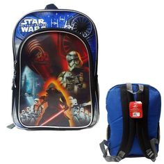 "Star Wars Episode VII 16"""" Kids Backpack, Featuring Kylo Ren and Storm Troopers"