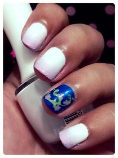 Final Fantasy X Yuna nail art inspiration