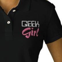 Shop Geek Girl Embroidered Polo Shirt created by stitchshop. Shop Geek, Embroidered Polo Shirts, Closet Staples, Geek Girls, Fitness Models, Geek Stuff, Medical, Casual, Fabric