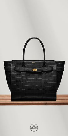 Shop the Zipped Bayswater in Black Deep Embossed Croc Leather at  Mulberry.com. The badc7dc272890