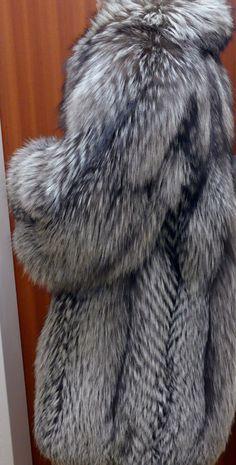 Pelzjacke, Saga Fox Silberfuchs Pelzjacke,Silverfox Fur Jacket | eBay