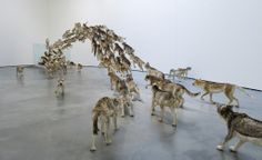 """Cai Guo-Qiang """"Head On"""" Guggenheim Museum Bilbao, Spain 2009 Chinese Contemporary Art, Contemporary Artists, Bilbao, Gallery Of Modern Art, Art Gallery, Abstract Sculpture, Sculpture Art, Cai Guo Qiang, Painting Collage"""