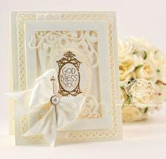 結婚式に来てくれたゲストへのメッセージカード❤︎純白のリボンでエレガントさをプラス❤︎