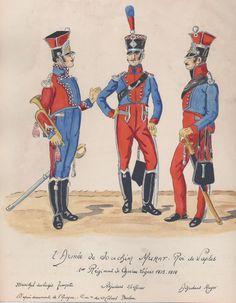Sottufficiali del 1 reggimento cavalleggeri del regno di Murat