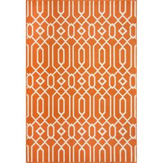 Bold and exciting color patterns allow trend-conscious customers to create their ultimate indoor/outdoor oasis. This rug highlights simple graphic patterns with a refreshing twist of runway fashion and a lively color palette.
