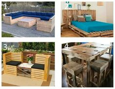 furniture made from crates.