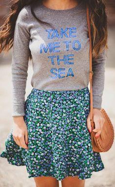Old Navy Grey Blue Print Sweatshirt