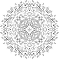 """The word """"Monday"""" is not just the name of a day of the week, it's also a slang term to for a giant sledgehammer. Hopefully this mandala does a better job. Mandala Coloring Pages, Coloring Book Pages, Printable Coloring Sheets, Mandala Drawing, Mandala Design, Parchment Craft, Dot Painting, Printer, Doodles"""