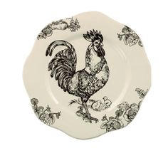 Love roosters and toile!