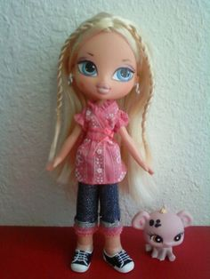 Girlz Girl Bratz Kidz Kid Cloe Doll. Cloe is wearing her original clothes, earrings and shoes. Blonde Hair Blue Eyes. I added a pet. | eBay!