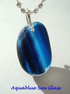 Drilled English Sea Glass Multi  Small Pendant by aquablueseaglass, $11.00