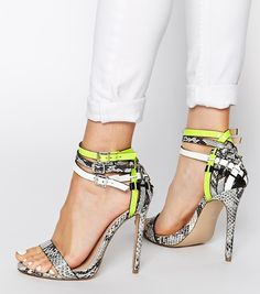 Buy Carvela Gaze Grey Leather Multi Strap Heeled Sandals at ASOS. With free delivery and return options (Ts&Cs apply), online shopping has never been so easy. Get the latest trends with ASOS now. Shoe Boots, Shoes Heels, Heeled Sandals, Asos Shoes, Crazy Shoes, Me Too Shoes, Kurt Geiger Shoes, Wedding Outfits For Women, Mode Shoes