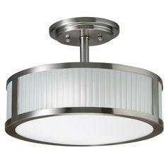 Transitional 2-light Brushed Nickel Semi Flush Mount - Overstock™ Shopping - Big Discounts on Flush Mounts