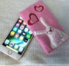 Kawaii Bunny case for iPhone 6s. Handmade case to protect your iPhone from scratches and dust when it's in your handbag or pocket. Unique handmade gift!  Custom order:  If you dont like the color, would like to change the design of the applique or add any inscription - contact me!  Handmade case made with love and care.  Thank you for visiting my shop! More gift ideas here https://www.etsy.com/shop/FairyBeadsStore?ref=hdr&section_id=20717648  SHIPPING:  I shi...