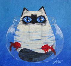 """Fish Bowl Kitty"" by Adalia Waite"