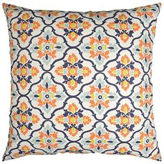Amazon.com: JinStyles Spring Floral Cotton Canvas Lumbar Decorative Throw Pillow Cover (Orange Red Blue and Yellow, 12 x 24): Home & Kitchen