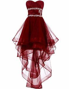 Charming Prom Dress, High Low Prom Dresses, Sleeveless