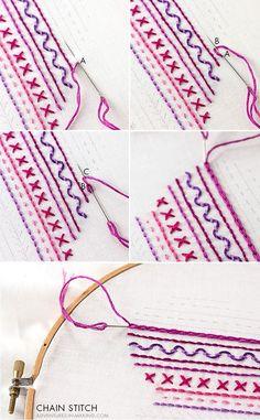 DIY: Heart Embroidery Sampler (For Beginners) | http://adventures-in-making.com/diy-heart-embroidery-sampler-for-beginners/
