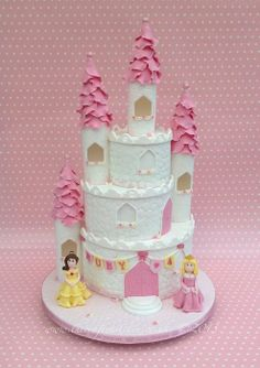 Princess Castle Cake - by Thecraftykitchen @ CakesDecor.com - cake decorating website