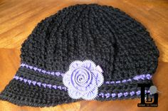 Ladies Textured Slouchy NewsBoy Hat Ready to Ship by LoopsInLoops, $30.00