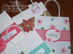 Stampin Up Gift Bags Envelope Punch Board Holiday Catalog