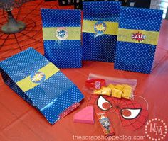 The Scrap Shoppe: Superhero Party! Favor bags