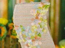 Paper Flower Embellished Lantern