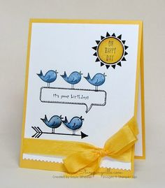 Cheerful birthday card with Stampin' Up! Hello Love Stamp Set | Stampingville