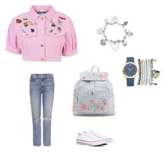 """""""Summer is comming"""" by irmalewis2028 on Polyvore featuring Moschino, GRLFRND, ChloBo, Mixit, Converse, New Look, Summer, love, fashionable and women"""