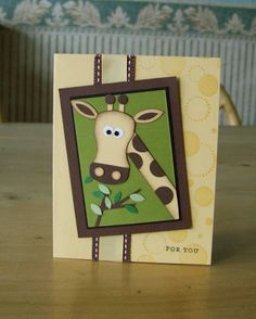 Punch Art Giraffe! by flowerbugnd1 - Cards and Paper Crafts at Splitcoaststampers