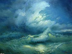 Море  бывает  разное…  Художник Александр Милюков.   | Оригинальное  творчество  талантливых  и  увлеченных  людей