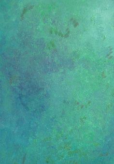 MINTY FRESH Bright Green, Blue Chic Abstract Acrylic Painting Summer Mint Art Gift Decor Art Print