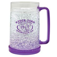 Promotional 18 oz. Acrylic Frosty Freezer Mug | Customized Bar Glassware | Promotional Bar Glassware