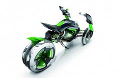 Kawasaki Unveils All-Electric 'J' Motorcycle Concept At Tokyo Motor Show With Twin Front Wheels