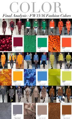 Pantone Fashion Colors Fall 2016 Via Fashionsnoops Com