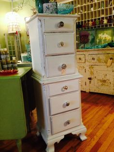 Cottage Painted Shabby Chic Upcycled Lingerie Chest by TessHome, $495.00