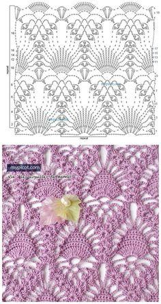 How to Make Crochet Look Like Knitting (the Waistcoat Stitch) Gilet Crochet, Crochet Motifs, Crochet Diagram, Crochet Stitches Patterns, Crochet Chart, Crochet Designs, Knitting Stitches, Crochet Lace, Stitch Patterns