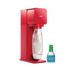 SodaStream Play Home Soda Maker Starter Kit, Red
