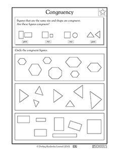 Shape Basics: Congruent Shapes | Worksheets, Math and Geometry