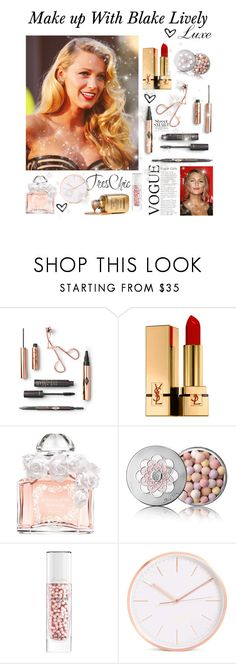 """Make up with Blake Lively♡"" by faanciella ❤ liked on Polyvore featuring Yves Saint Laurent, Guerlain and blakelively"