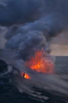 Photo: Extreme Exposure by Miles Morgan - Big Island, Hawaii… Landscape Photos, Landscape Photography, Nature Photography, Travel Photography, Lava, Hawaii Volcanoes National Park, Natural Phenomena, Big Island, Nature Pictures