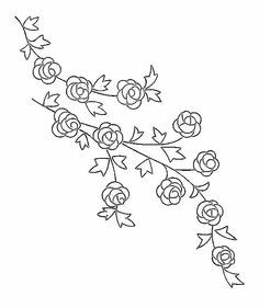 Roseraie provenant du blog Broderie d'Antan
