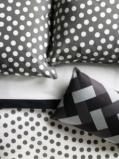 Super-graphic: STENKLÖVER pillowcases and duvet cover, $29.99 for queen set; ikea-usa.com.
