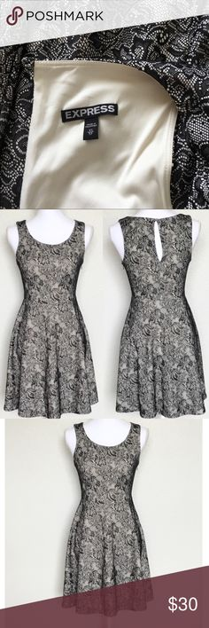 9b4ed07992 Express Floral Dress   Sz XS -Excellent used condition -Beautiful dress  -Side zip